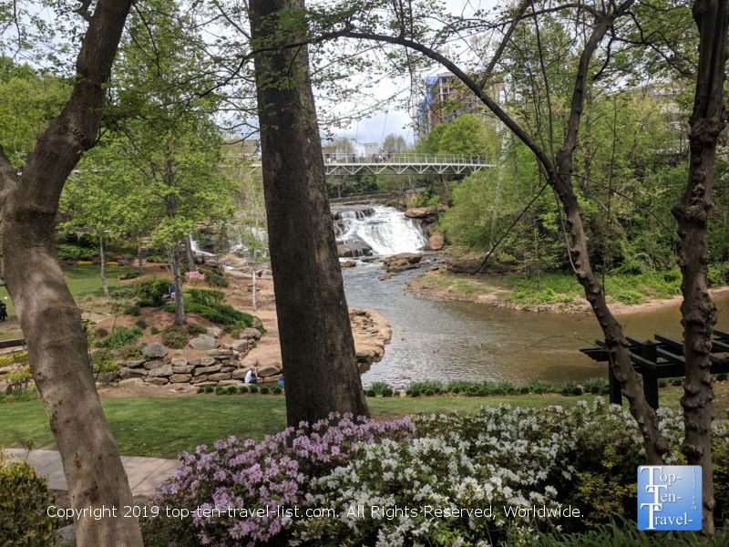 Falls Park in downtown Greenville, South Carolina