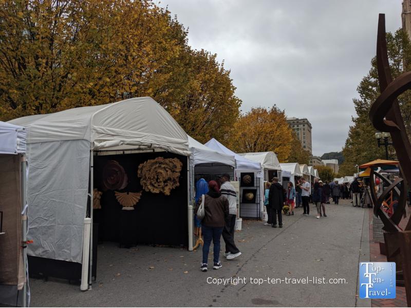 Fall Fine Arts Festival in downtown Asheville, North Carolina
