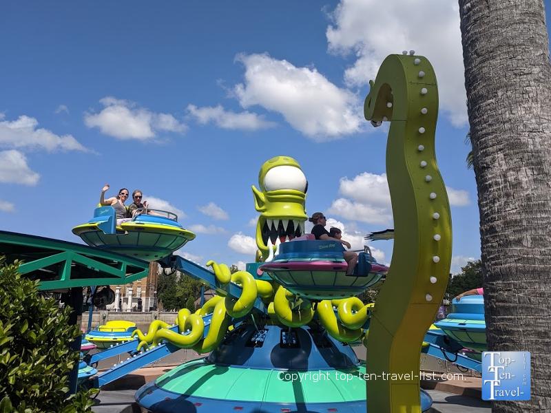 Fun Simpsons ride at Universal Studios in Orlando, Florida