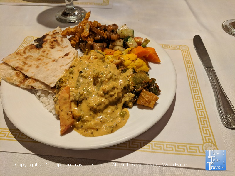 Handi Indian buffet in Greenville, South Carolina