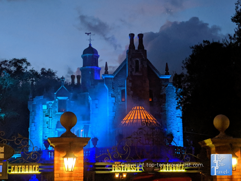 The Haunted Mansion at Halloween