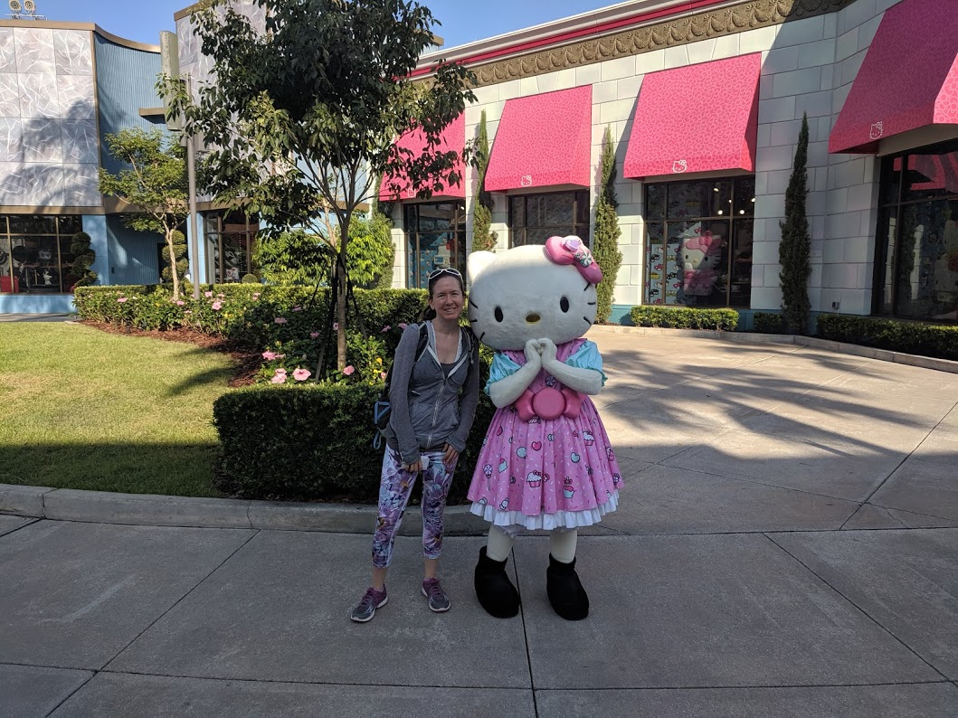 Hello Kitty photo opp at Universal Studios in Orlando, Florida
