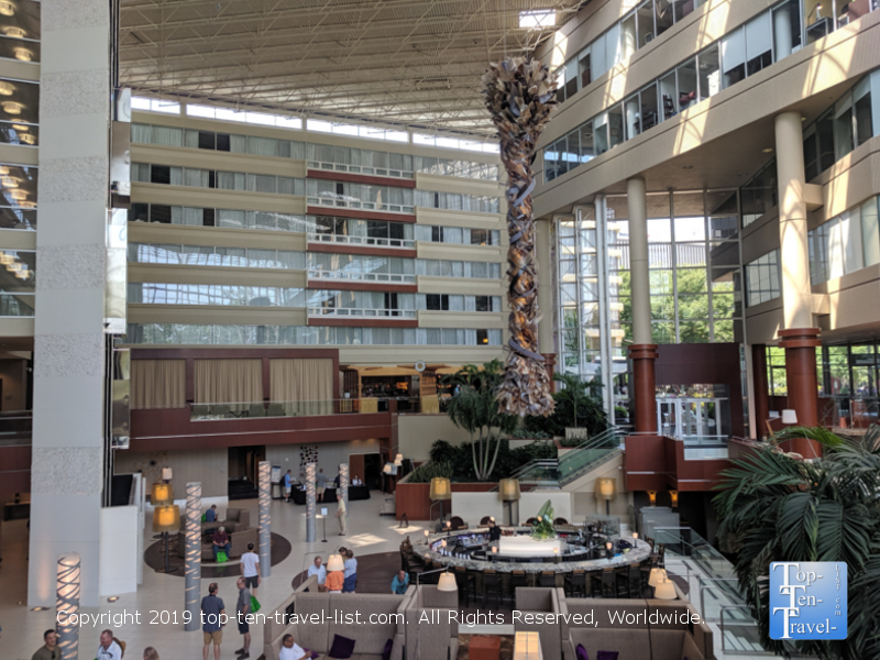 The beautiful Hyatt Regency in downtown Greenville, South Carolina