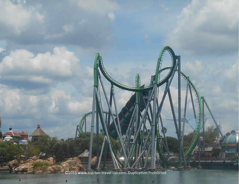Incredible Hulk Coaster of Universal Islands of Adventure in Orlando, Florida