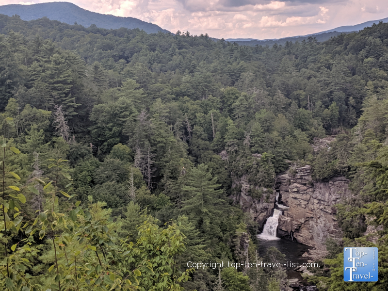 Linville Falls along the Blue Ridge Parkway