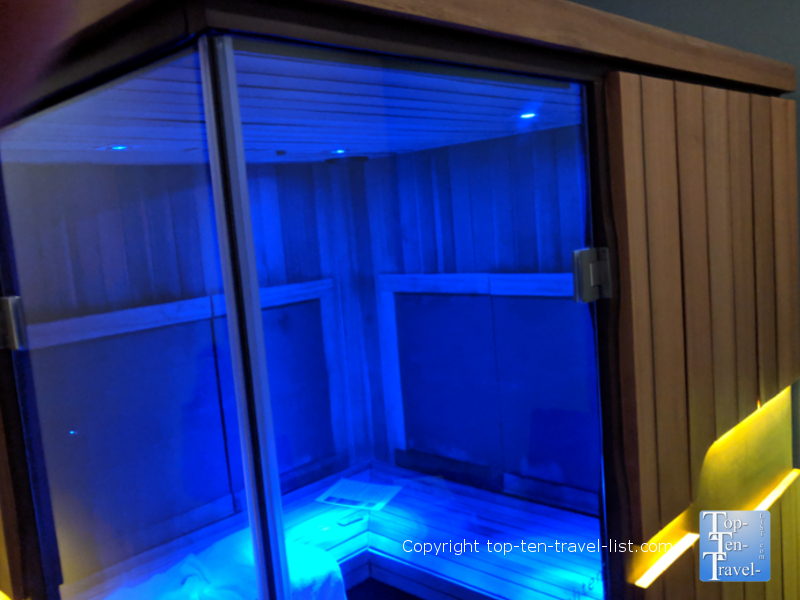 Infrared sauna at Drift Spa in Greenville, South Carolina