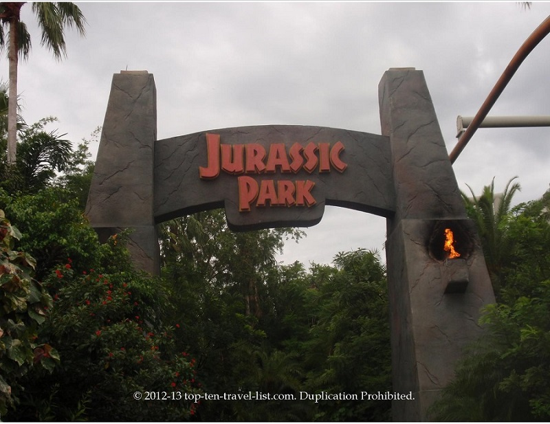 Jurassic Park ride at Islands of Adventure in Orlando, FL