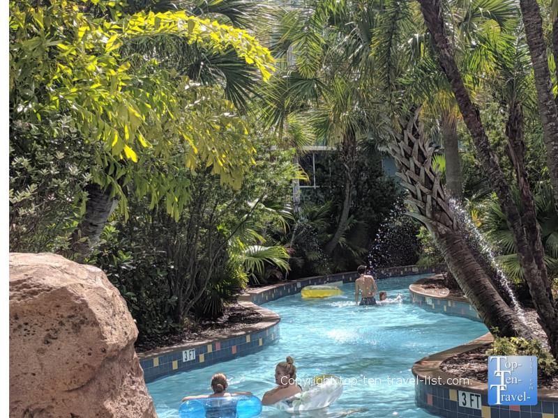 Lazy river at Cabana Bay Universal resort in Orlando, Florida