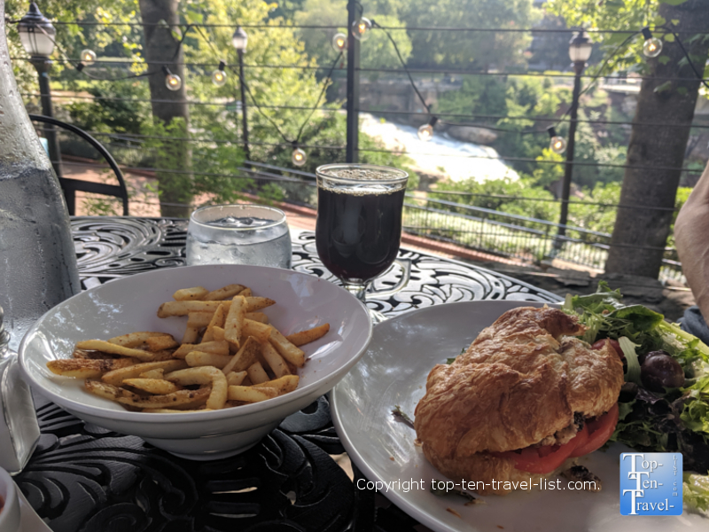 Lunch at Passerelle Bistro in Greenville, South Carolina