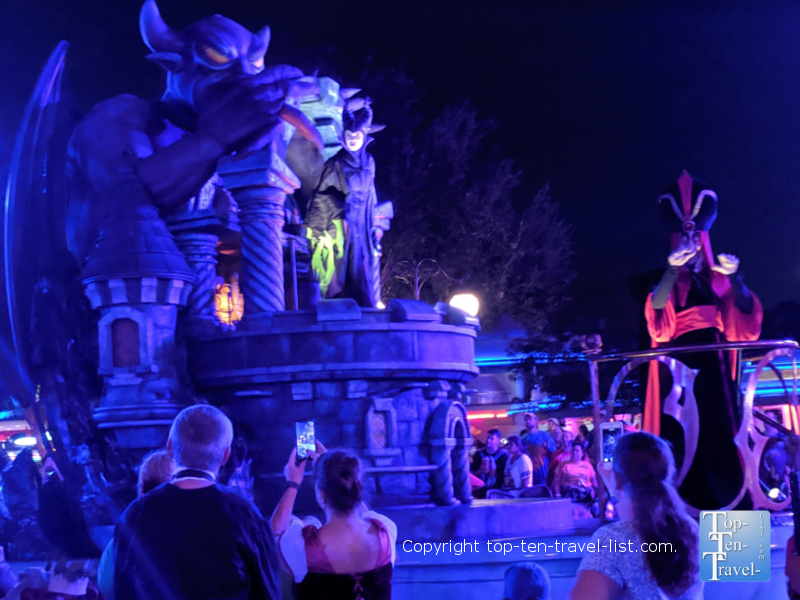 Spooky float in the Boo to You Halloween Party at the Magic Kingdom in Orlando
