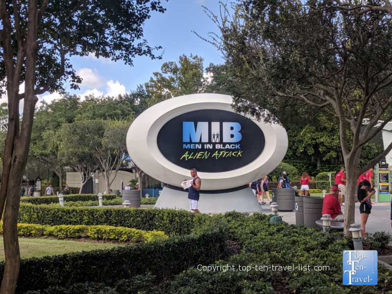 Men in Black Alien Attack ride at Universal Studios in Orlando, FL