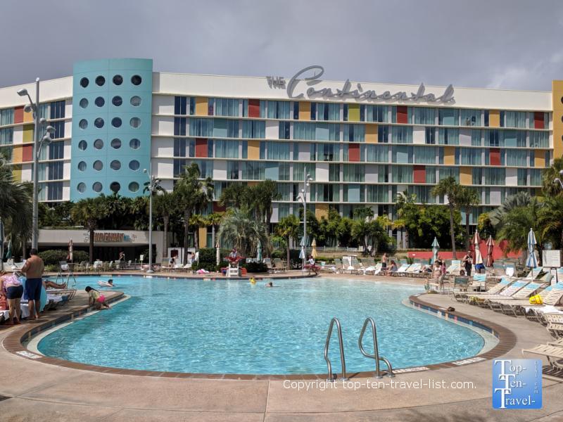 Pool at the Cabana Bay resort in Orlando, Florida