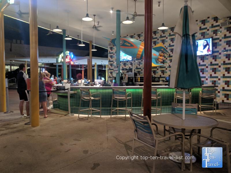 Pool bar at Cabana Bay resort at Universal Studios in Orlando, Florida