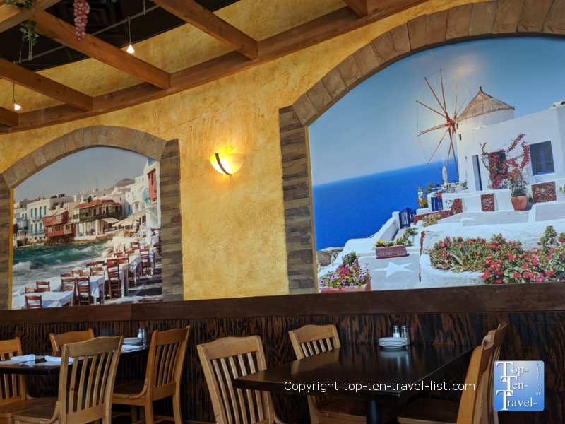 Pretty murals at Greektown Grill in Greenville, South Carolina