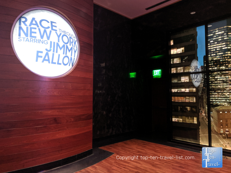 Race through New York with Jimmy Fallon ride at Universal Studios in Orlando, Florida