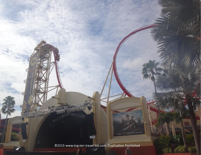 Hollywood Rip Ride RockIt coaster at Universal Studios in Orlando, Florida
