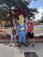 Simpsons character photo opp at Universal Studios in Orlando, Florida