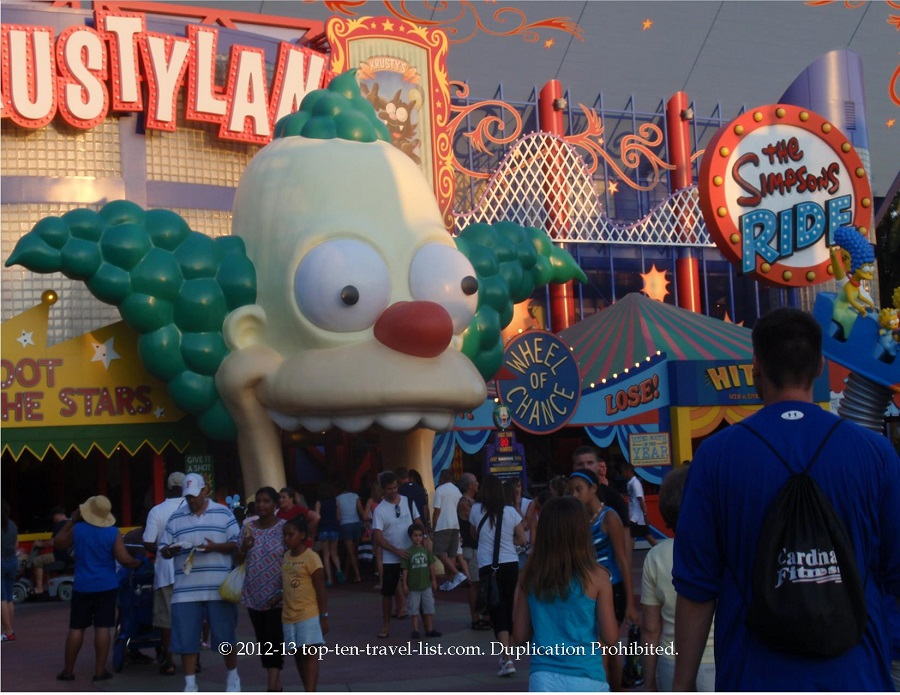 The Simpsons ride at Universal Studios in Orlando, Florida