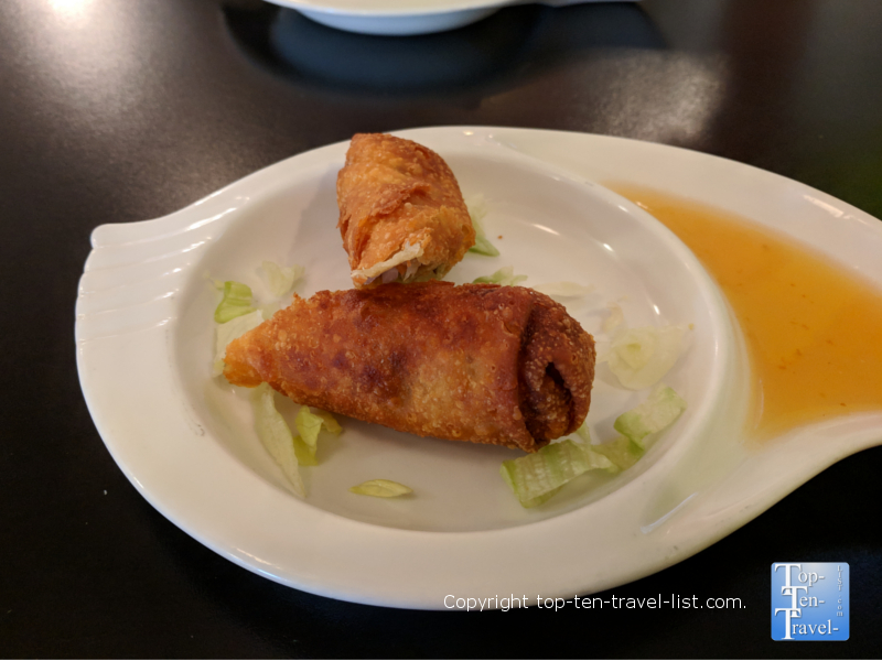 Spring rolls at Yellow Ginger in Greenville, South Carolina