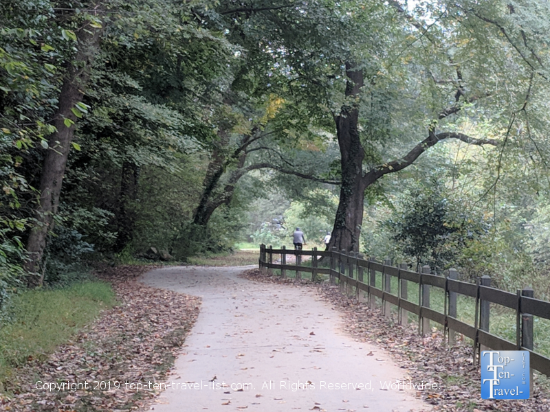 The Swamp Rabbit bike trail in Greenville,South Carolina