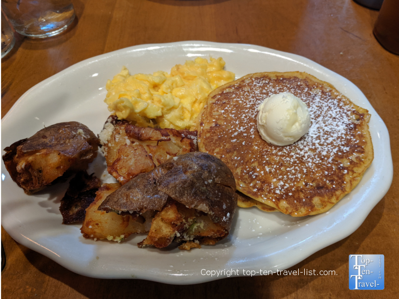 Sweet potato pancakes at Tupelo Honey in Asheville, North Carolina