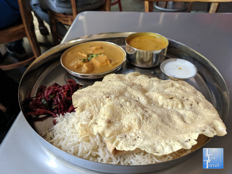 Thali lunch special at Chai Pani