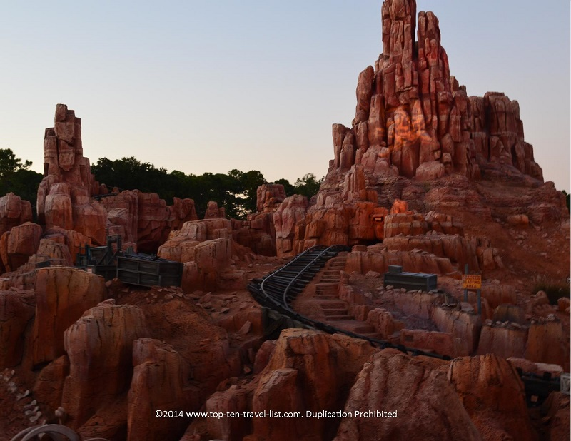 Big Thunder Mountain roller coaster at Disney's the Magic Kingdom in Orlando, Florida