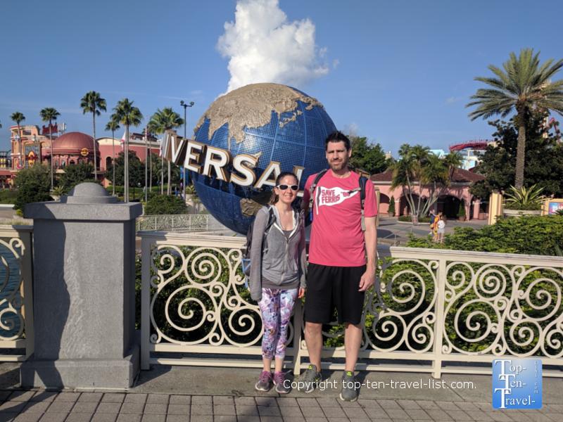 Universal Studios globe in Orlando, Florida