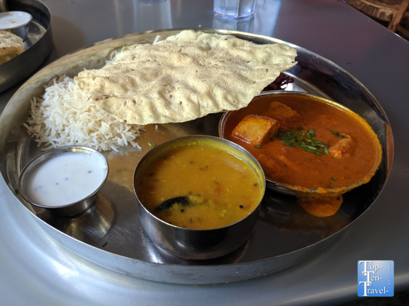 Veggie Thali at Chai Pani in Asheville, North Carolina