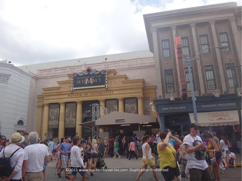 Revenge of The Mummy at Universal Studios in Orlando, Florida