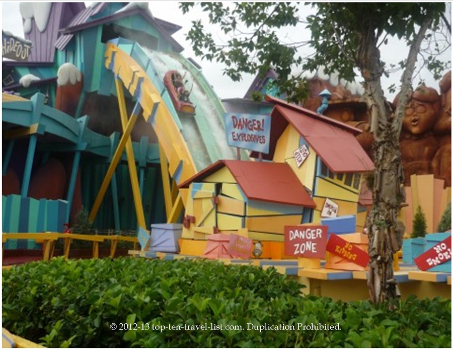 Dudley Do Right's Ripsaw Falls ride at Islands of Adventure in Orlando, Florida