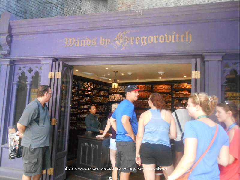 Wand by Gregorvitch at Diagon Alley at the Wizarding World of Harry Potter in Orlando, FL