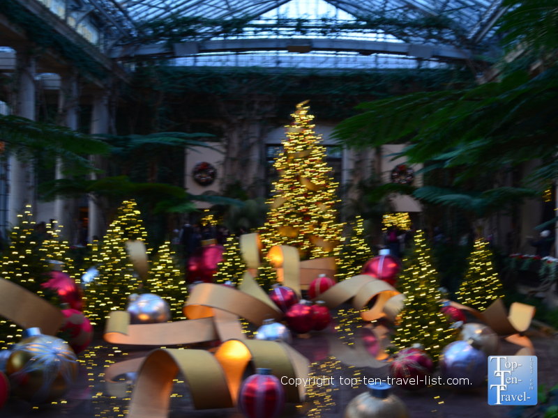 Amazing Christmas decor at Longwood Gardens in Pennsylvania