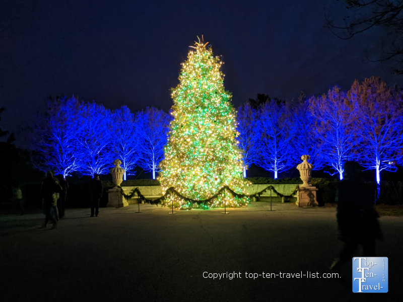 The amazing Christmas tree at Longwood Gardens in Pennsylvania