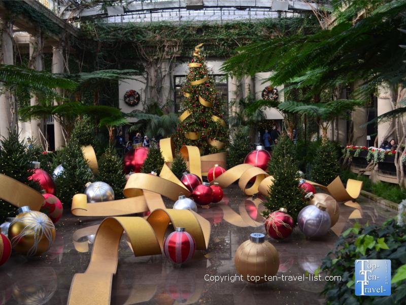 Holiday decor at Longwood Gardens in Pennsylvania