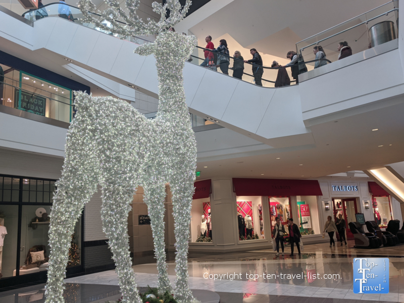 Holiday decor at King of Prussia mall in the Philly suburbs