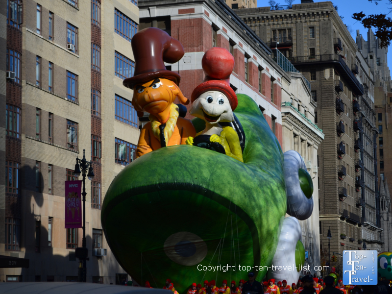 Dr Seuss balloon in the Macy's Thanksgiving Day Parade