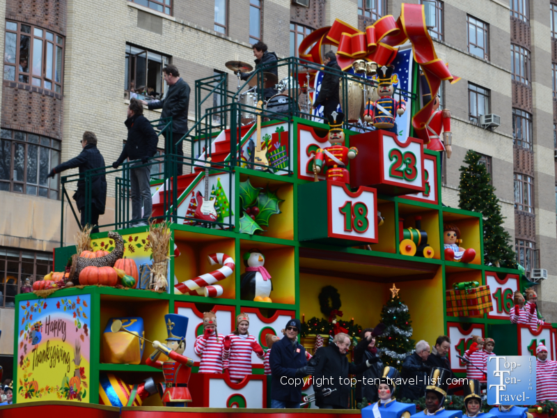 Festive float in the Macy's Thanksgiving Day Parade