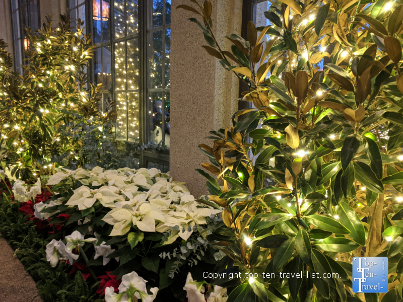Festive seasonal decor at A Longwood Christmas in Pennsylvania