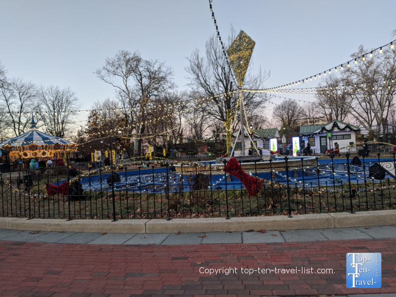 Franklin Square Holiday light show in Old City Philadelphia