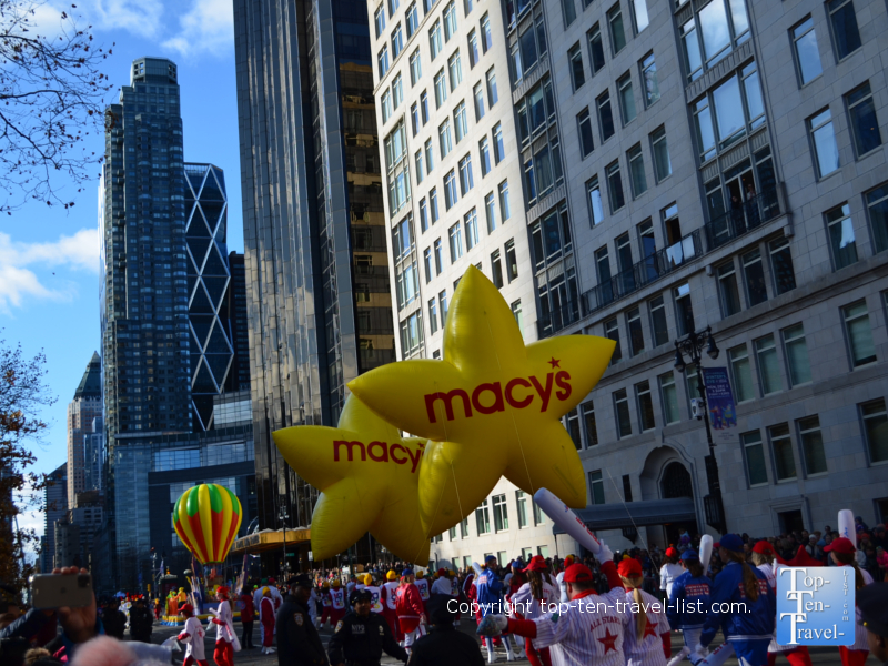 Macy's balloons in the Macy's Thanksgiving Day Parade