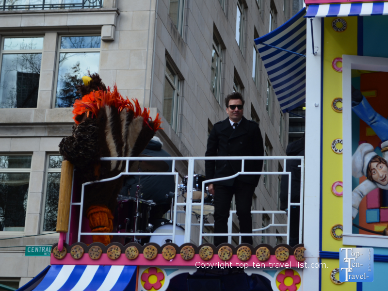 Jimmy Fallon float in the Macy's Thanksgiving Day Parade