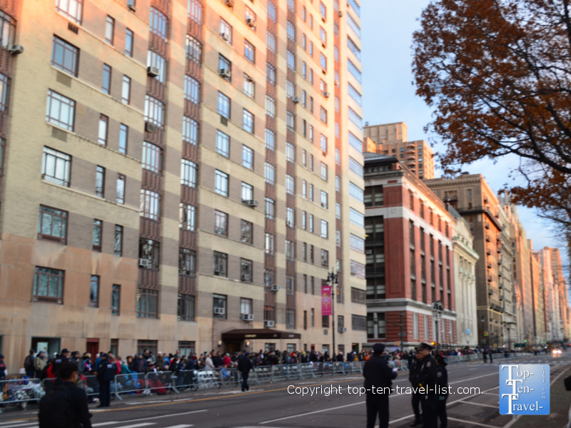 Best spot to watch the Macy's Thanksgiving Day Parade in person