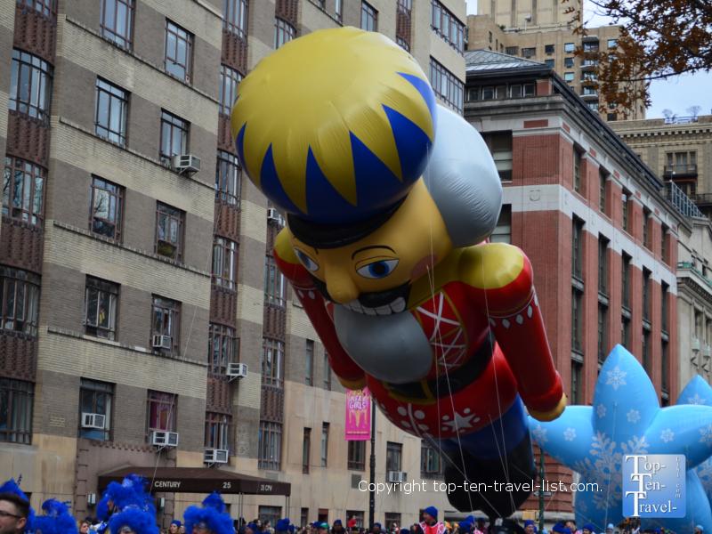Giant nutcracker balloon in the Macy's Thanksgiving Day Parade