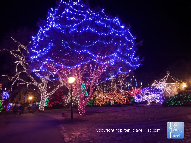 Peddler's Village holiday light festival in Pennsylvania