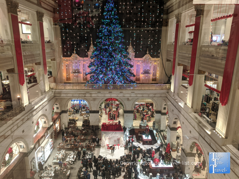 The amazing historic Wanamaker Building (now a Macy's) decked out for the holidays!