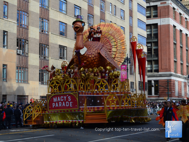 Turkey in Macy's Thanksgiving Day Parade in NYC