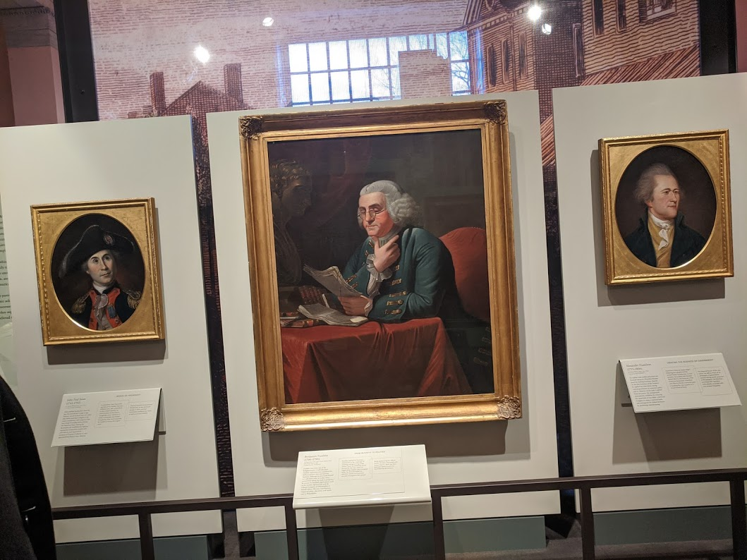 Benjamin Franklin portrait at the Second Bank Portrait Gallery in D.C.