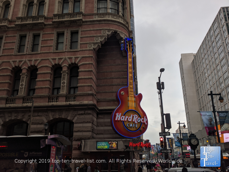 Hard Rock Cafe in Center City Philadelphia