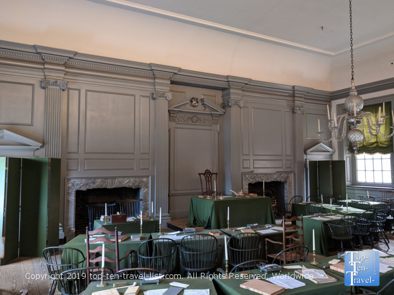Touring Independence Hall in Philadelphia